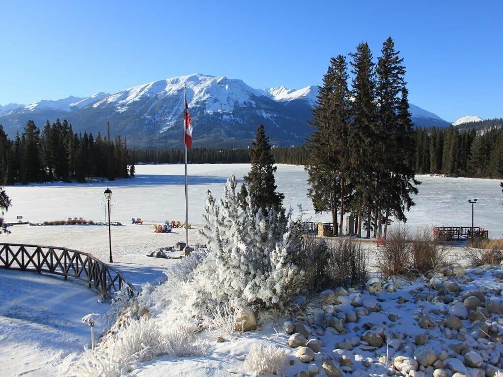 gefrorene Seen